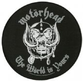 Motorhead - 'The World is Yours' Round Giant Backpatch